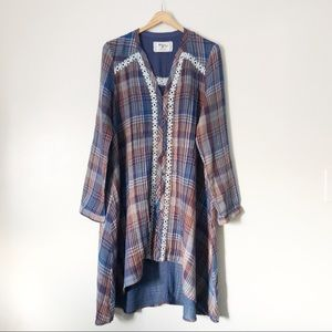 Anthropologie Holding Horses Woven Tunic Dress Md